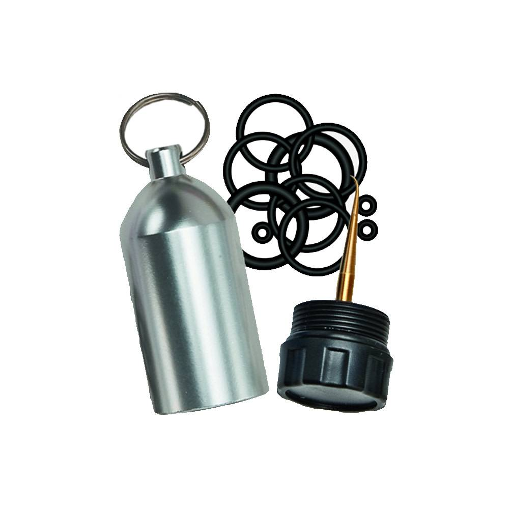 Scuba Tank Keychain with O-rings and Pick