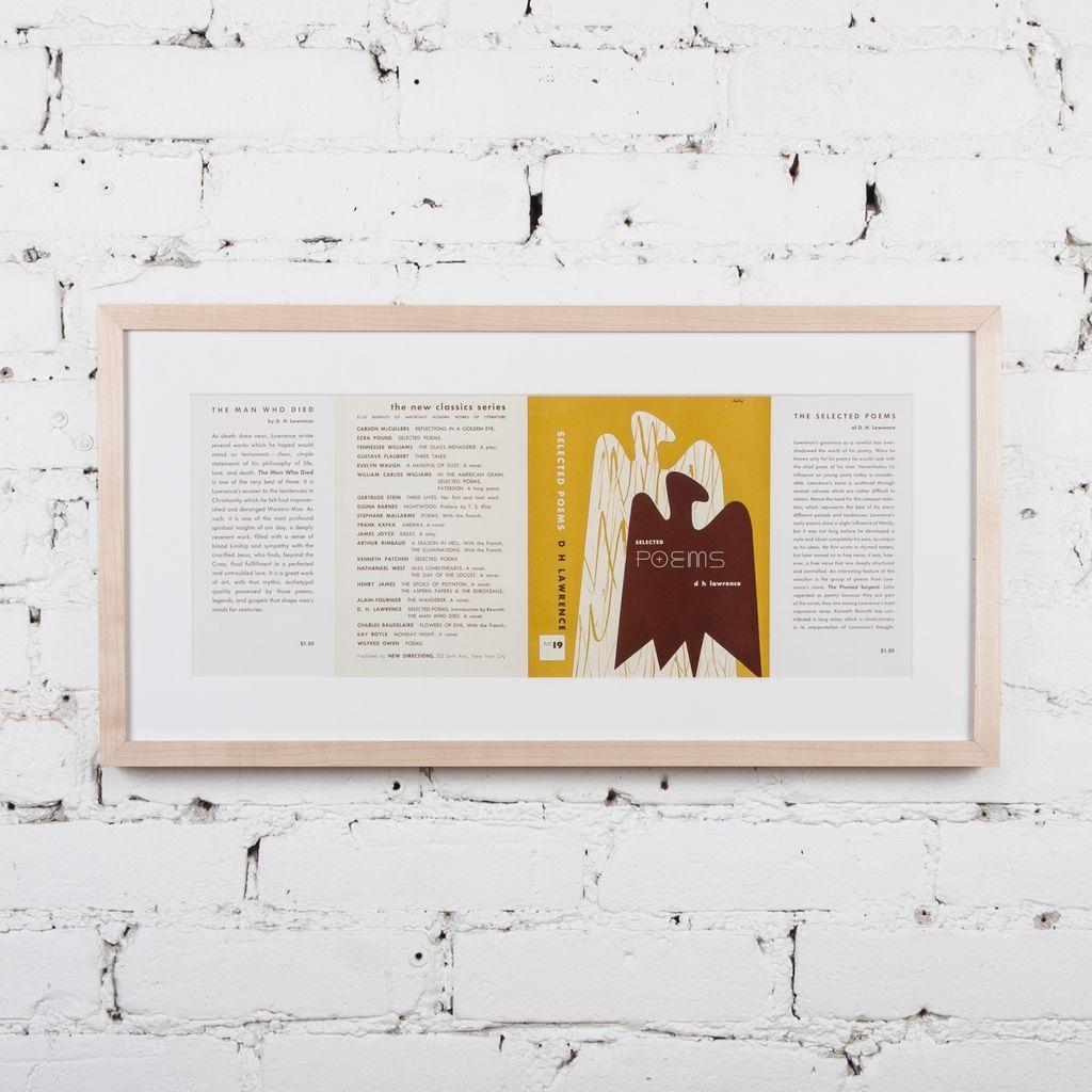 Alvin Lustig DH Lawrence, Selected Poems, 1947, Framed : Picture Room