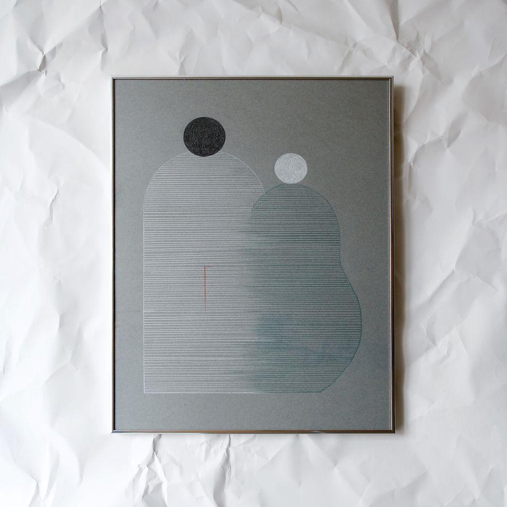FAMILY 1 (Blue), Drawing, Framed, 2017