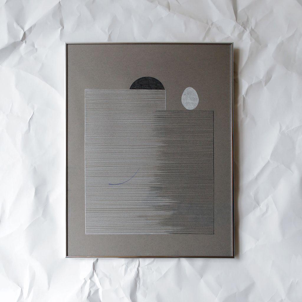 FAMILY 2 (Grey), Drawing, Framed, 2017