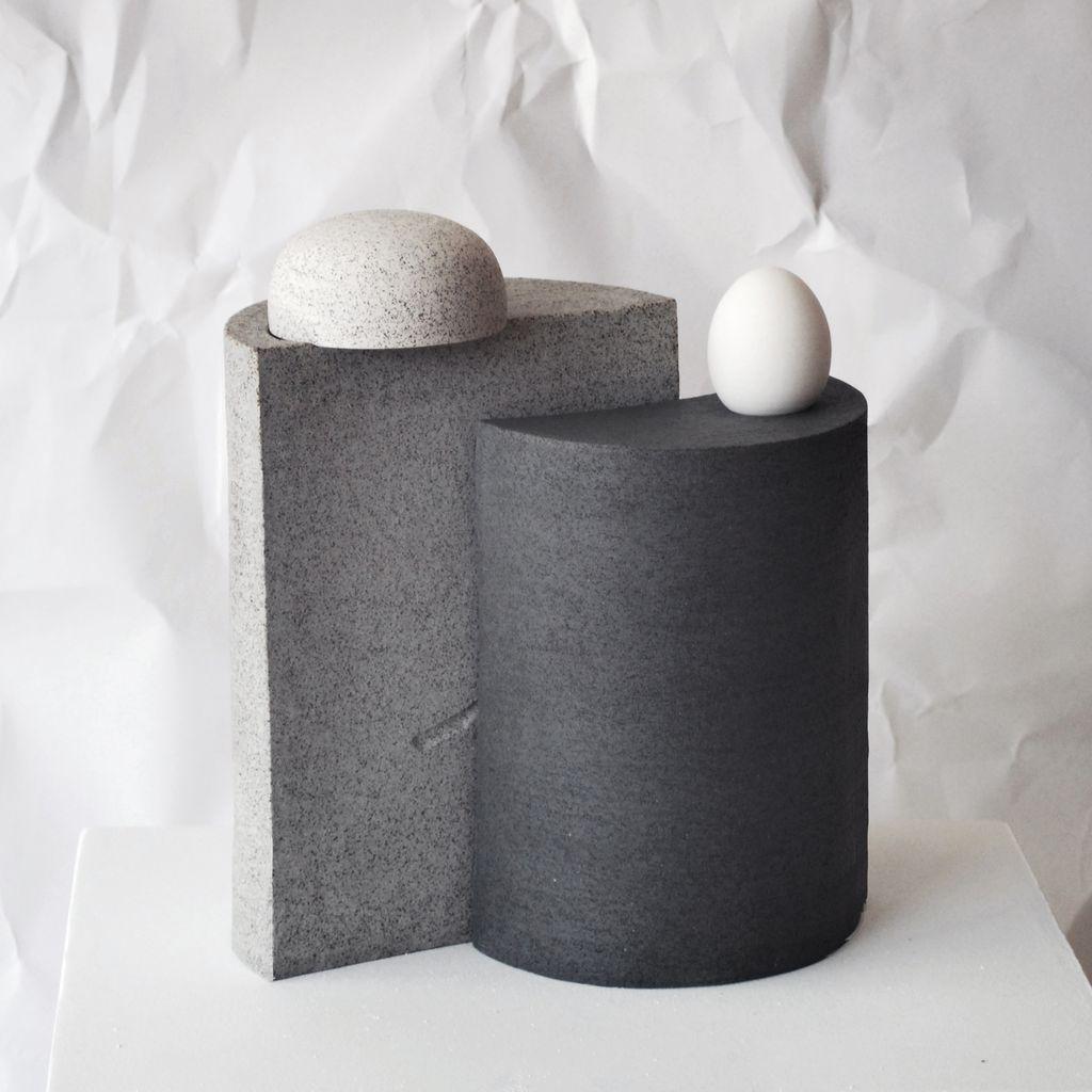FAMILY 2, Grey, Stoneware Sculpture, 2017