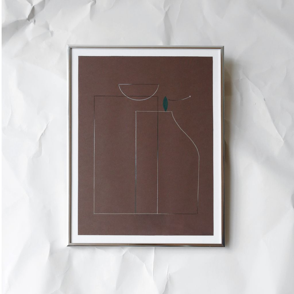 Family In Brown, Drawing, Framed, 2017