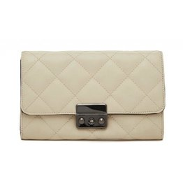 MP Quilted Ivory Wallet