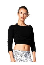 Karma Activewear  <br /> Aliya Pullover<br /> 66% Bamboo 28% Cotton 6% Spandex