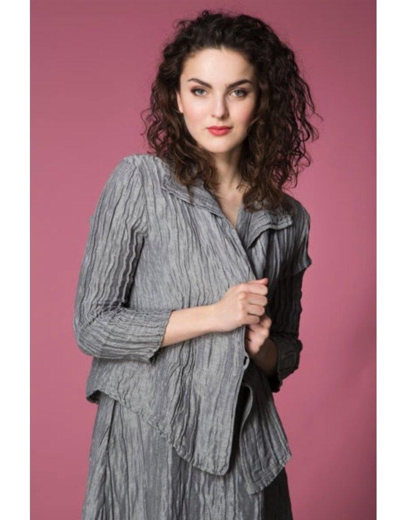 Crinkle Silk & Linen Jacket