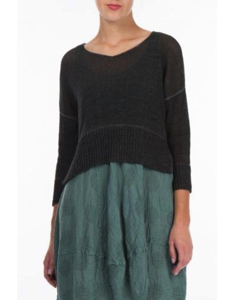 Short Knitted Linen Jumper