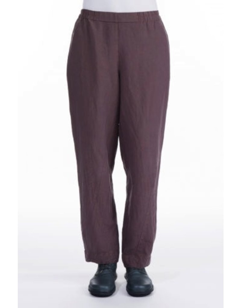Straight Silk & Lenin Trousers