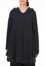 Hooded Buttons Closed Cardigan