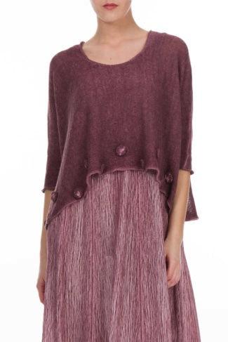 Blossoms Waist Knitted Linen Sweater