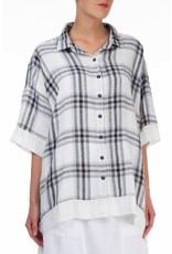 Checkered Linen Minimalist Shirt