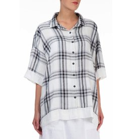 Checkered Linen Minimalist Shirt