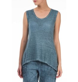 Washed Out Effect Linen Top
