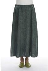Straight Silhouette Linen Skirt