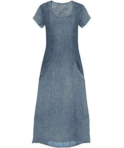 Straight Linen Dress