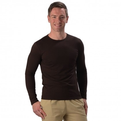 Men Bamboo L/S Fitted Top