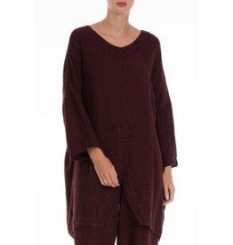 Natural Linen Dark Red Tunic