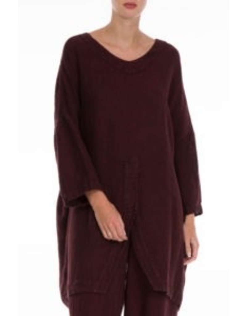 Natural Linen Dark Red Tunic