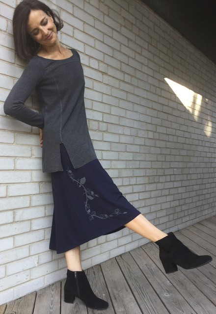 Squeezed Bamboo Skirt