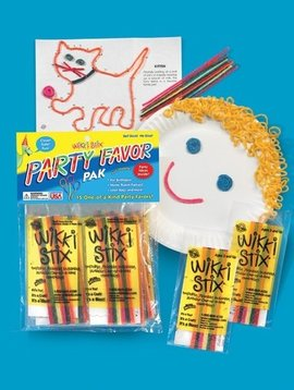 "Toys & Games Wikki Stix 15 Party Packs of 12, 6"" Stix with Play Sheets"