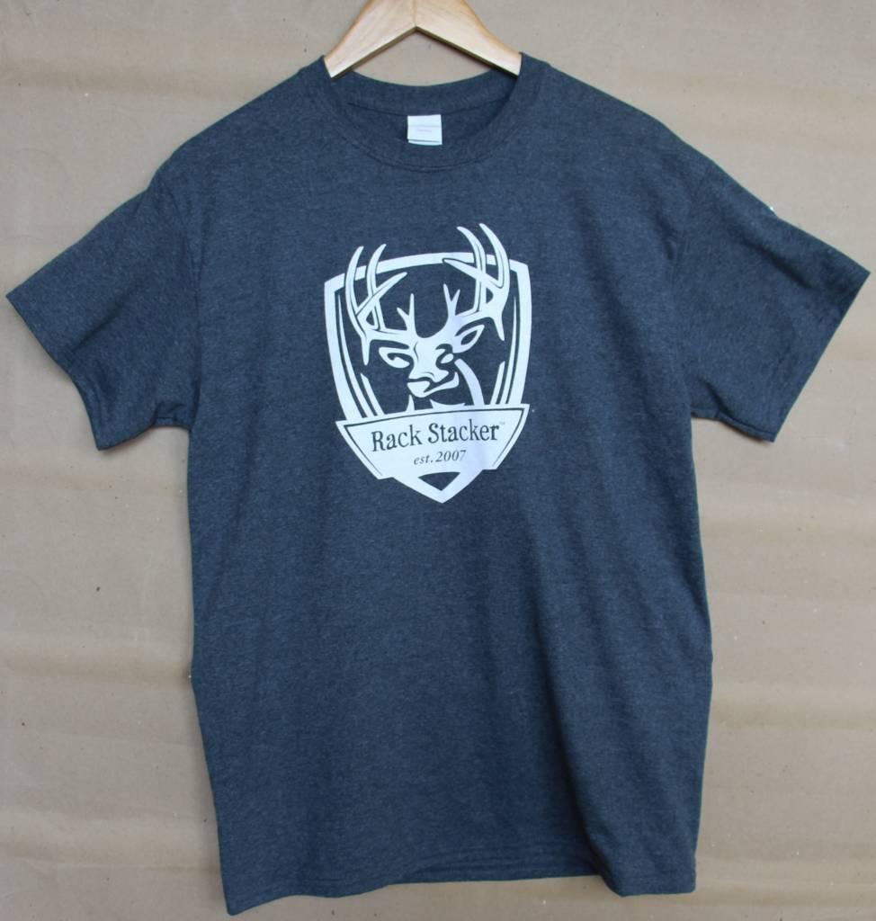 Rack Stacker Grey Promo T-shirt NEW logo