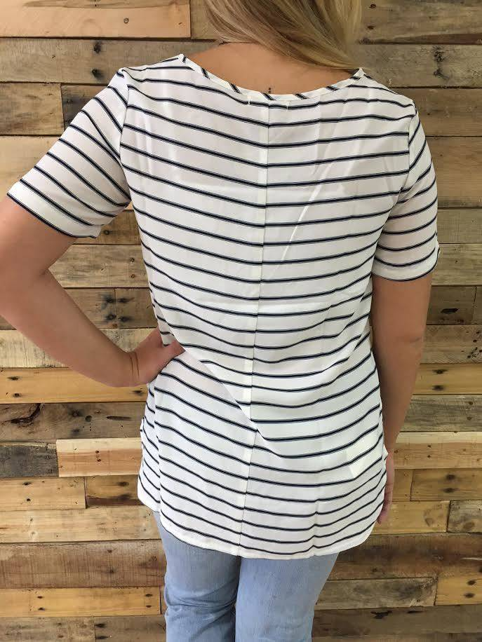 High-Low Striped Tee