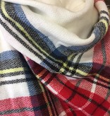 White/Red Blanket Scarf