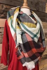 Rust/Brown/Ivory Blanket Scarf