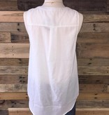 Lace-Up Woven Tank