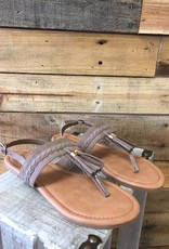 Taupe Clover Sandal