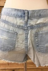 Crochet Hem Denim Shorts