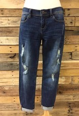 Dark Slim Boyfriend Jean
