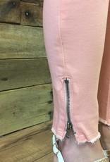 Peach Kancan Zip Ankle Skinny