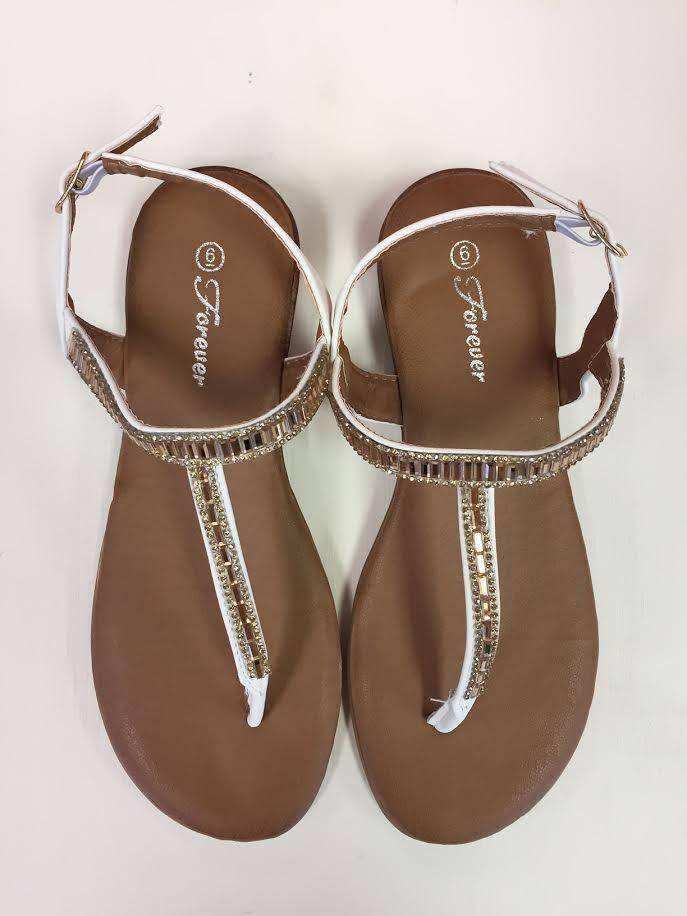 White Ronnie Sandal