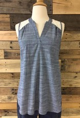 Sleeveless Chambray Top