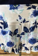 Blue/Taupe Floral Shorts