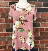Dusty Pink Floral Top