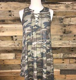 Camo Lace-Up Dress