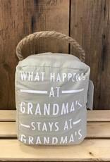 What happens at Grandmas Door Stopper
