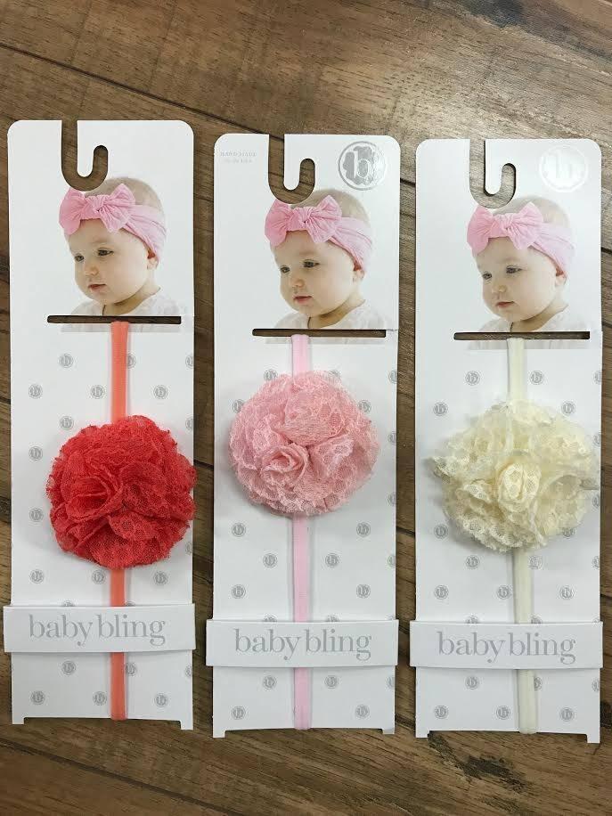 Mesh Flower BabyBling Headband