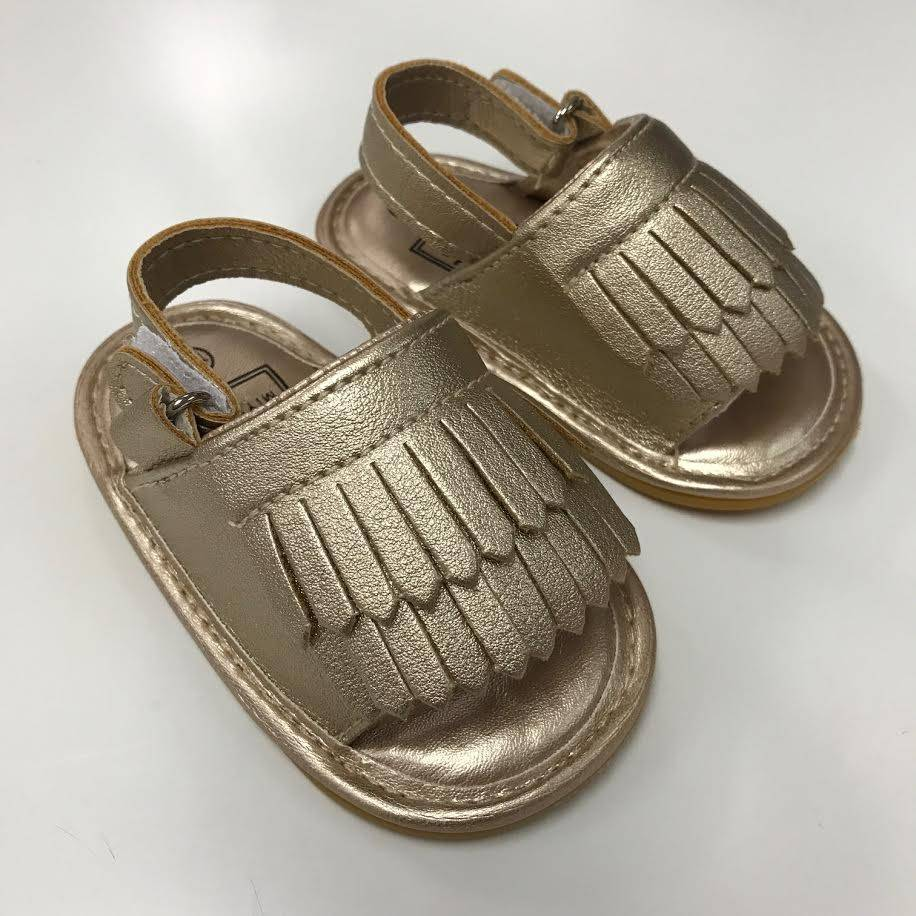 Gold Moccasin Sandals