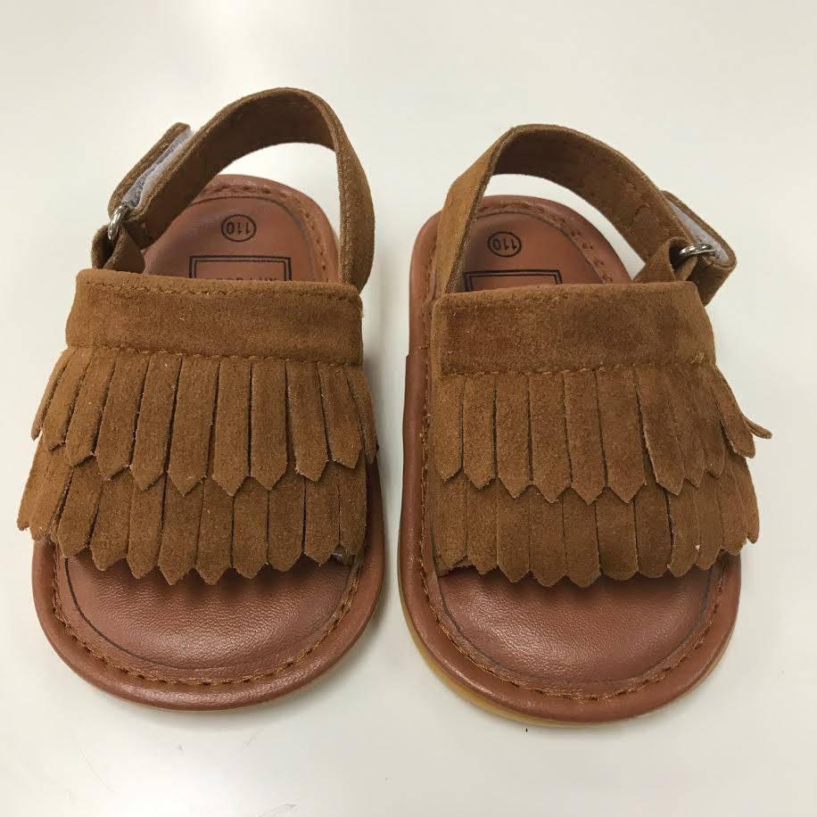 Brown Moccasin Sandal