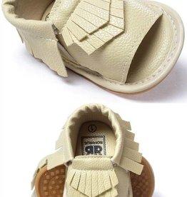 Ivory Moccasin Sandal