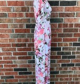 Blush Short Sleeve Floral Maxi
