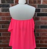 Neon Pink Off Shoulder Top