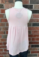 Blush/Cream Trimmed Tank