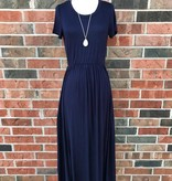 Navy T-Shirt Maxi Dress