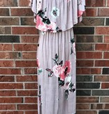 Mauve Floral Maxi Dress