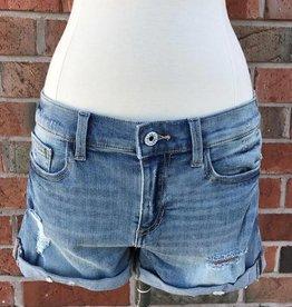 Light Wash Boyfriend Denim Shorts