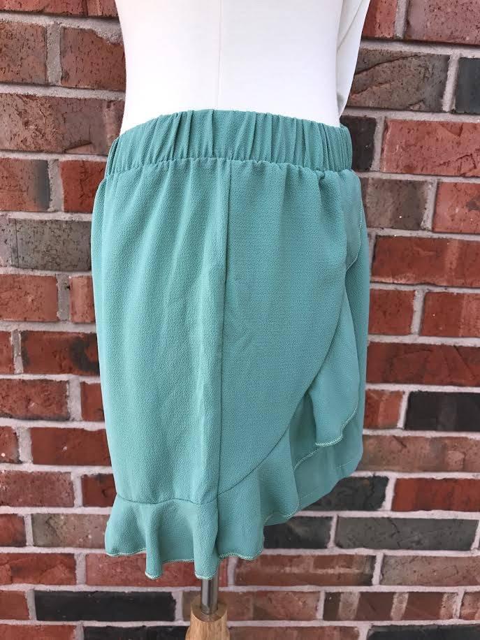 Sage Ruffle Shorts