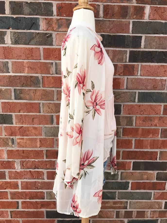 Ivory Floral Kimono